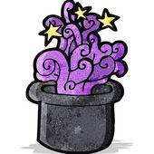 Magiczny kapelusz kreskówka — Wektor stockowy