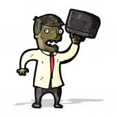 Cartoon angry businessman — Stock Vector