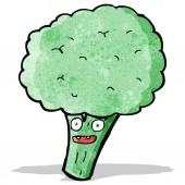 Cartoon brocolli — Stock Vector