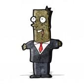 мультфильм happy бизнесмен — Cтоковый вектор