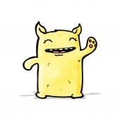 Cartoon waving monster — Stock Vector