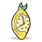 Reloj de limón de la historieta — Vector de stock