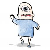Cartoon cyclops — Stock Vector