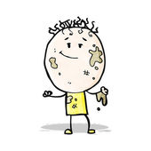 Cartoon dirty boy — Stock Vector