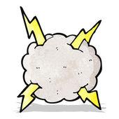 Cartoon åska moln — Stockvektor