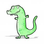 漫画の恐竜 — ストックベクタ