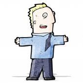 мультфильм возбужденных бизнесмен — Cтоковый вектор