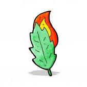 漫画の葉 — ストックベクタ