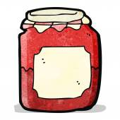 Cartoon jam jar — Stock Vector