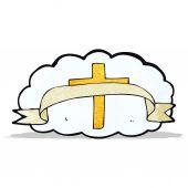Cartoon religious cross symbol — Stock Vector