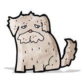 Cartoon scruffy dog — Stock Vector