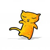 Cute little cat cartoon — Stockvektor