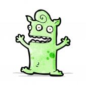 Funny little monster cartoon — Stock Vector