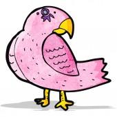 Cartoon pink parrot — 图库矢量图片