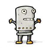 漫画のロボット — ストックベクタ