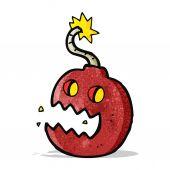 Cartoon bomb symbol — 图库矢量图片
