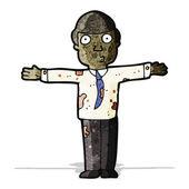 Cartoon dirty businessman — Cтоковый вектор