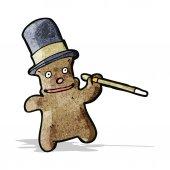 Cartoon funny teddy bear — Vettoriale Stock