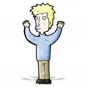 Cartoon man surrendering — Stock Vector