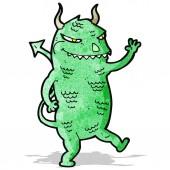 Cartoon tanzende monster — Stockvektor