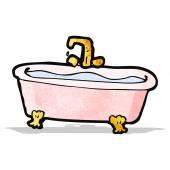 Cartoon bath of water — Stock Vector