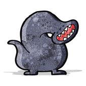 Giant leech monster cartoon — Stock Vector