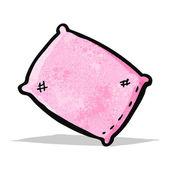 Cartoon pillow — Stock Vector