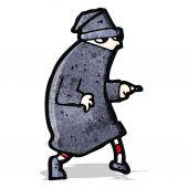 Cartoon sneaking thief — Stock Vector
