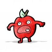 Cartoon apple — Stockvector