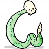 Cartoon spooky serpent — Stock Vector