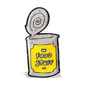 Cartoon tinned food — Stock Vector