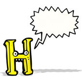 Cartoon letter h — Stock Vector