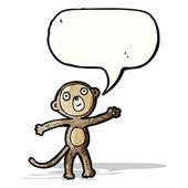 забавный мультфильм обезьяна — Cтоковый вектор