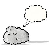 Cartoon raincloud with thought bubble — Stock Vector