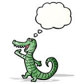 Hungry alligator cartoon — Stock Vector