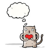 Cute little cat cartoon — Stock Vector