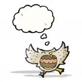 Cartoon little owl — Stock Vector