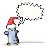 卡通企鹅与讲话泡泡 — 图库矢量图片