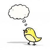 Cartoon Vogel mit Gedanken bubble — Stockvektor