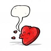 Cartoon love heart — Stock Vector