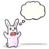 漫画のクレイジー ピンクのウサギ — ストックベクタ