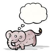 Dibujos animados elefante — Vector de stock