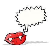 Sexy vampire cartoon lips — Stock Vector