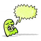 Slimy ghost cartoon — Stock Vector