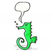 Cartoon seahorse — Stock Vector