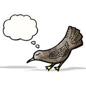 Cartoon crow — Stock Vector