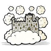 Cartoon floating castle — Stock Vector