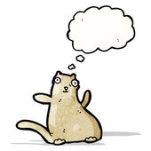 Funny cat with thought bubble — Stock Vector