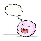 Cartoon cloud with face — Stock Vector