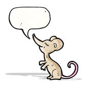 Cartoon mouse with speech bubble — Stock Vector